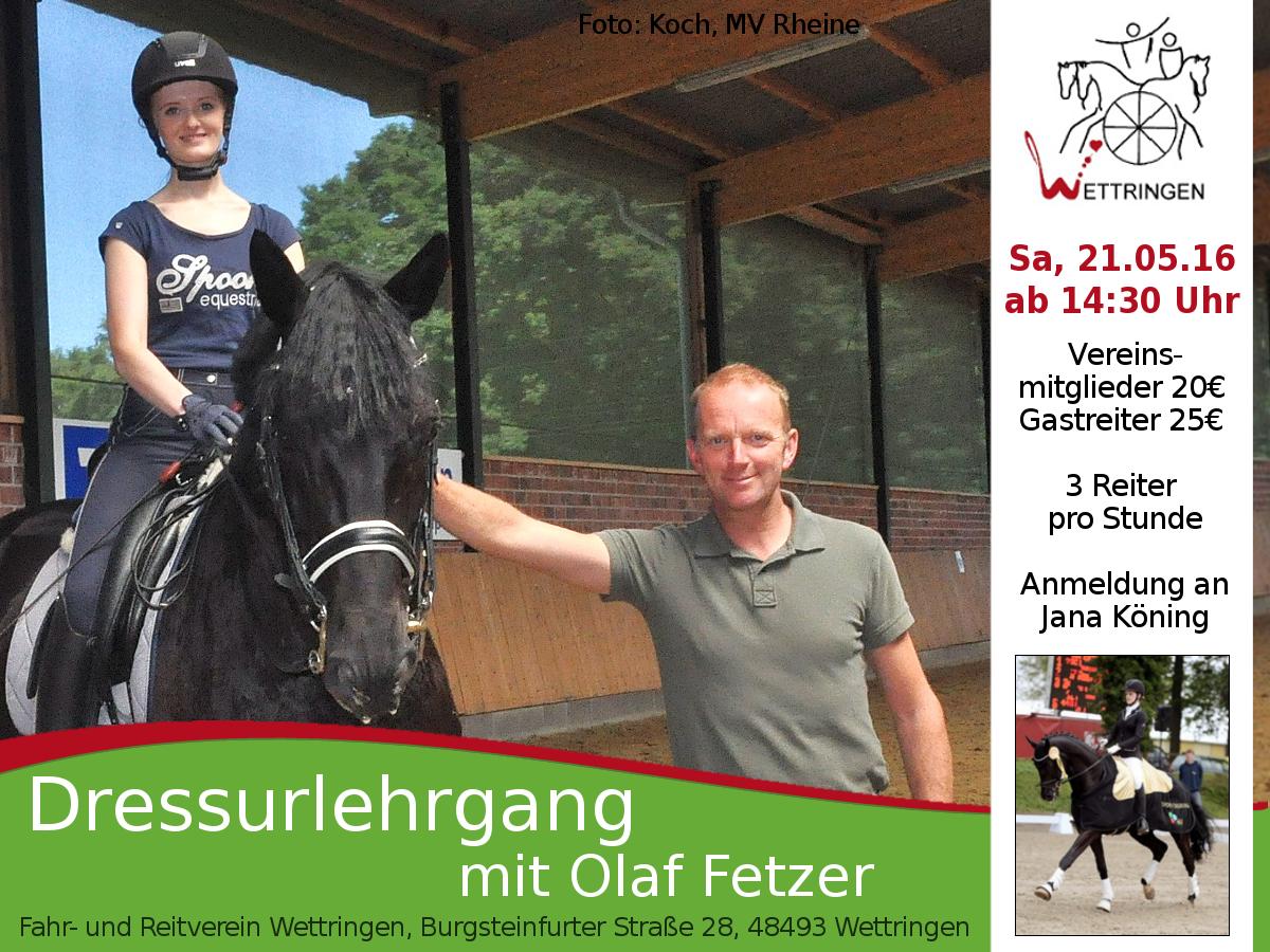 Dressurlehrgang Olaf Fetznerxcf